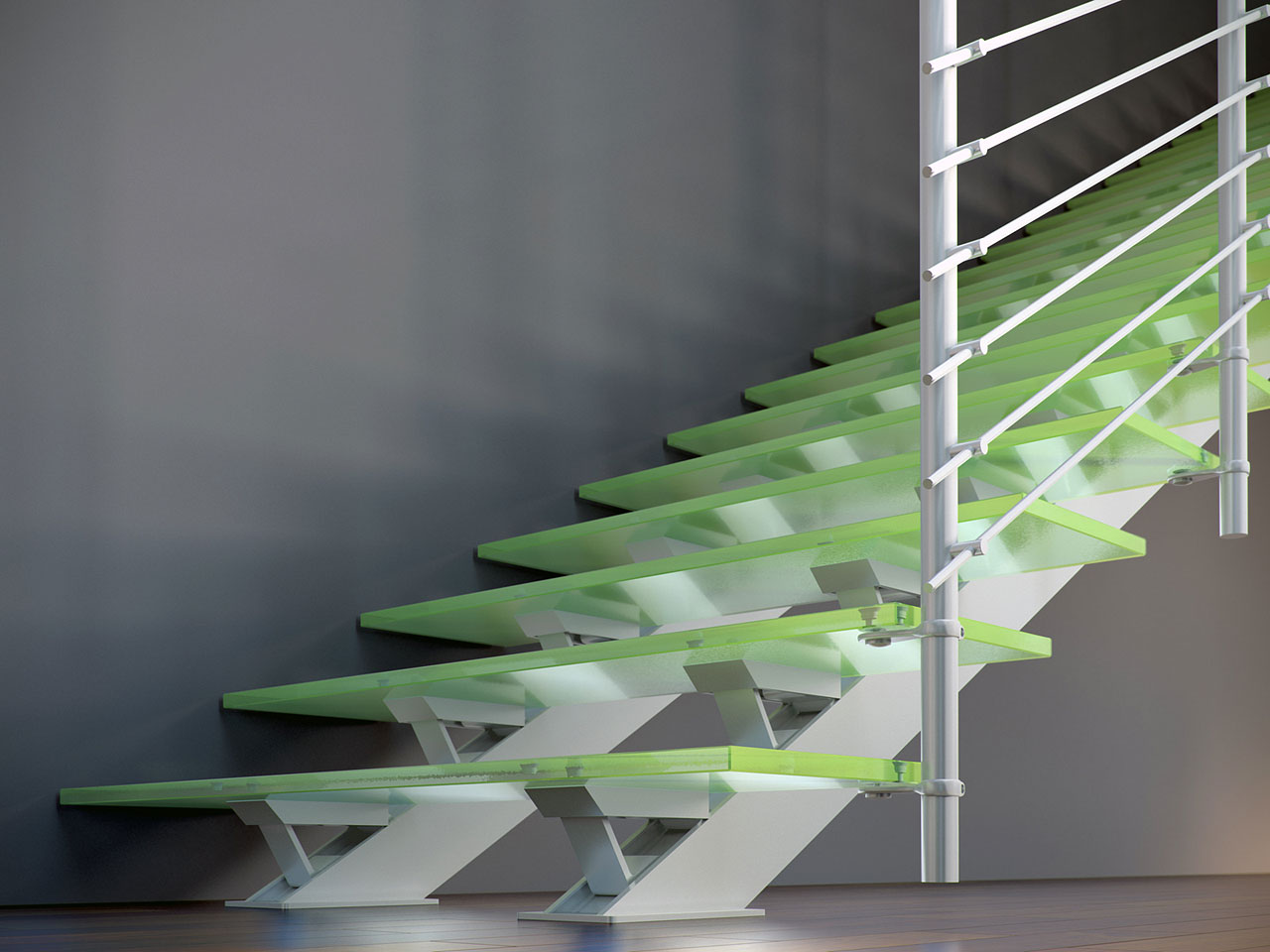 Scale Moderne Design.Scale Moderne In Vetro Per Un Design Esclusivo