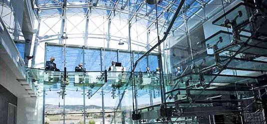 Evento svolto sul soppalco in vetro
